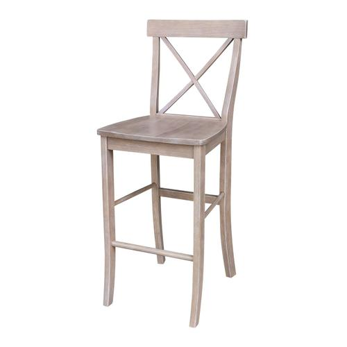 X-Back Stool in Taupe Gray