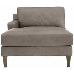 Palmer Left Arm Chaise in Sable Brown