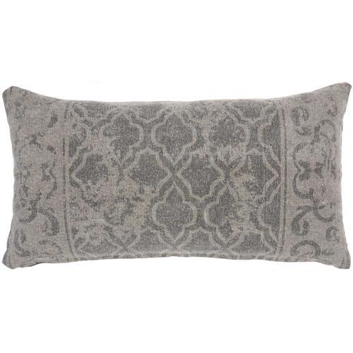 """Life Styles Gt650 Grey 16"""" X 32"""" Lumbar Pillow"""
