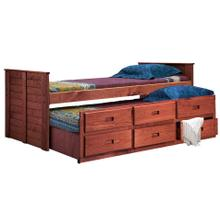 Full Captain Bed w/Twin Trundle Unit