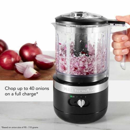 KitchenAid - Cordless 5 Cup Food Chopper - Black Matte