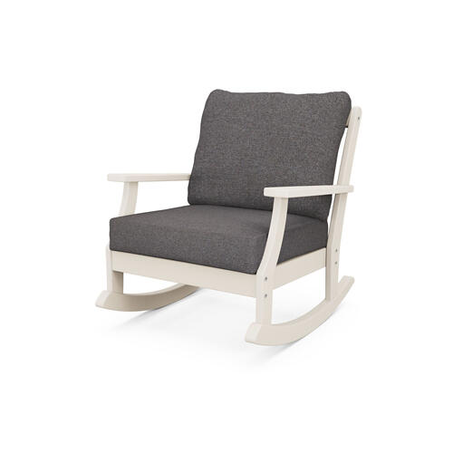 Sand & Ash Charcoal Braxton Deep Seating Rocking Chair