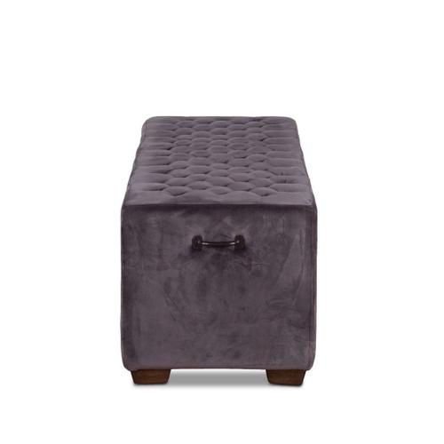 """D'Orsay 58"""" Upholstered Asphalt Velvet Bench"""