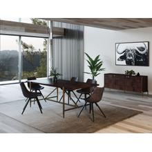 View Product - Modrest Shane - Modern Acacia & Brass Dining Table