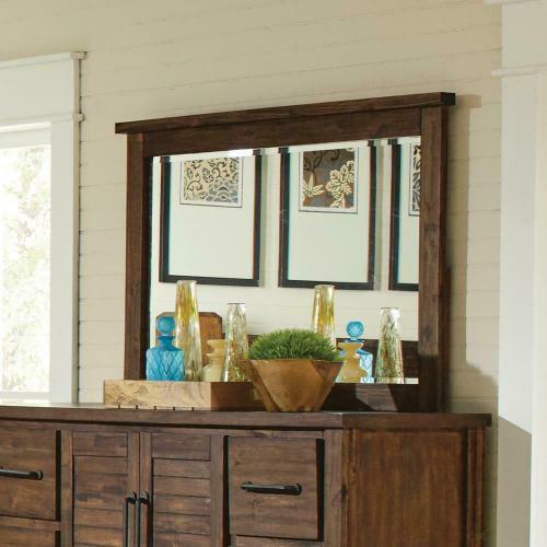 Sutter Creek Vintage Bourbon Dresser Mirror