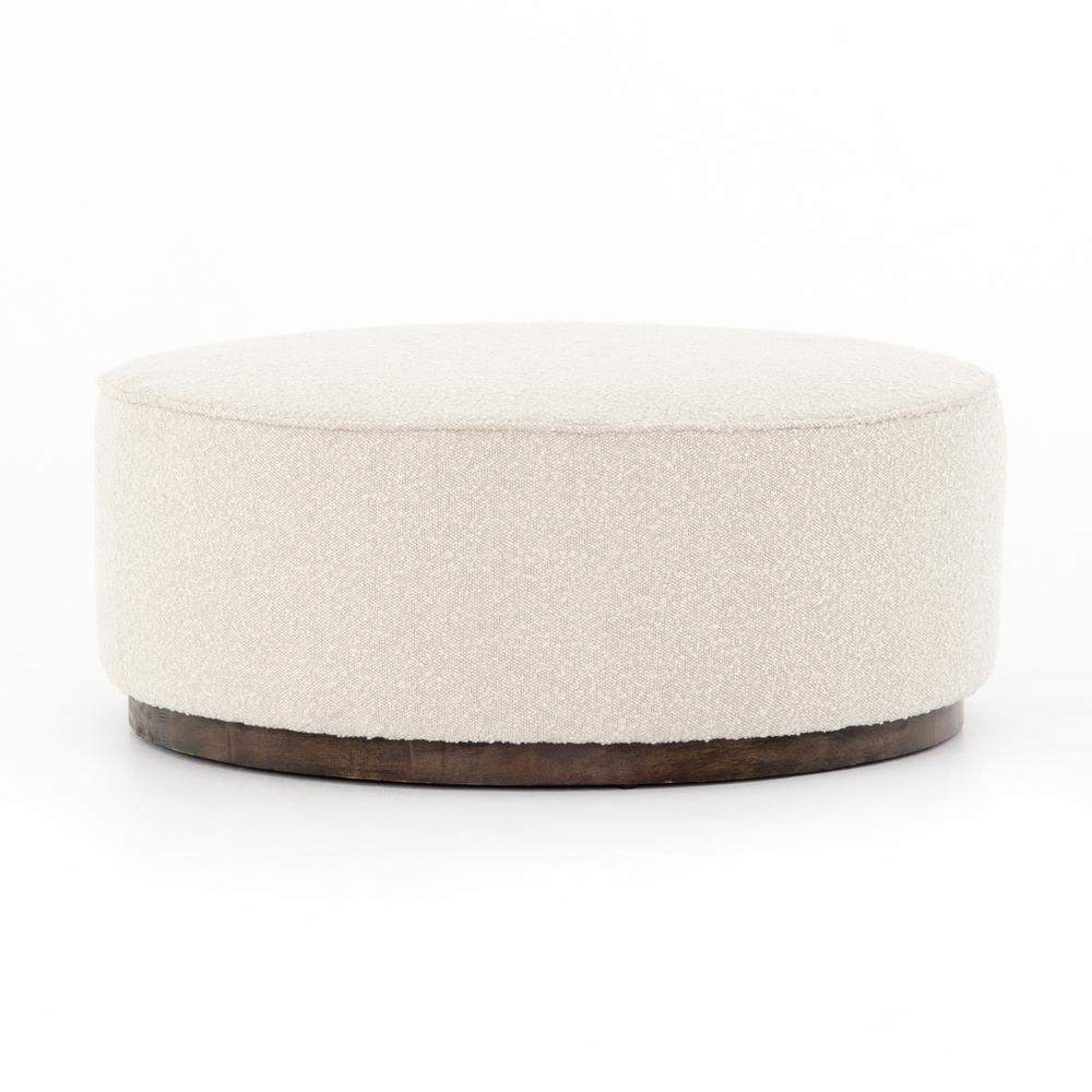 See Details - Knoll Natural Cover Sinclair Large Round Ottoman
