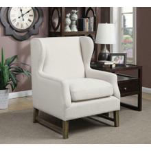 See Details - Traditional Cream Accent Chair