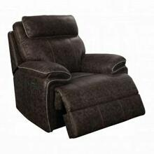 ACME Nikkos Recliner (Power Motion) - 55137 - 2-Tone Taupe Fabric