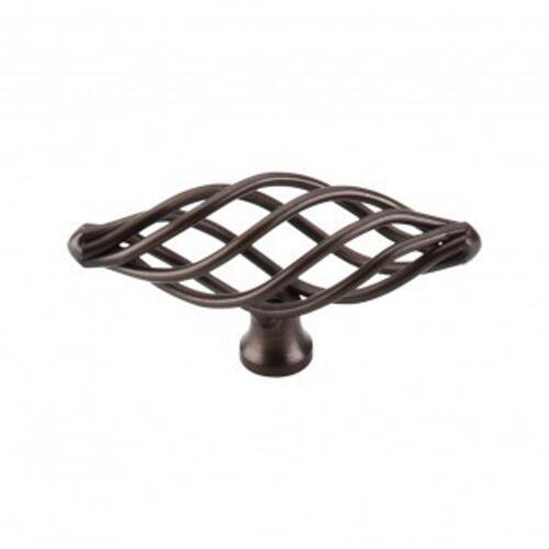 Top Knobs - Oval Medium Twist Knob 3 Inch - Oil Rubbed Bronze