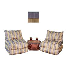 View Product - Chic Lounger Set 2 + 1 Ottoman - Chic