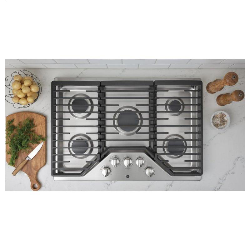 """GE® 30"""" Built-In Gas Cooktop with 5 Burners and Dishwasher Safe Grates"""