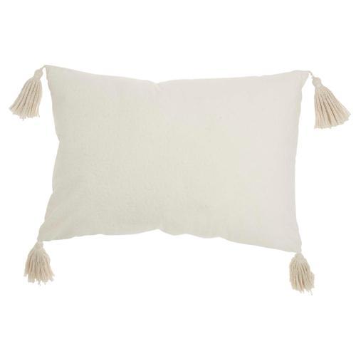 "Life Styles Et093 Ivory 14"" X 20"" Throw Pillow"