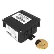Air Activated Switch Button with Control Box for Waste Disposal - English Gold