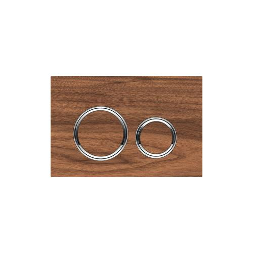 Sigma21 Dual-flush plates for Sigma series in-wall toilet systems Black Walnut NEW! Finish