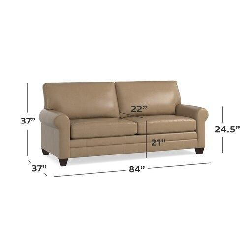 CU.2 Leather Sofa, Arm Style Track