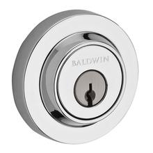 Polished Chrome Contemporary Round Reserve Deadbolt