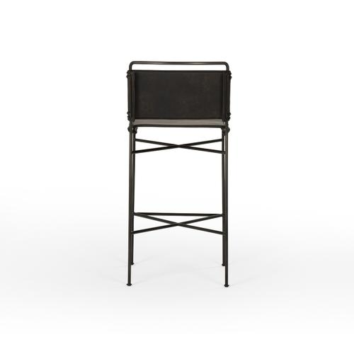 Bar Stool Size Distressed Black Cover Wharton Bar + Counter Stool