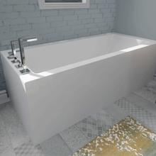 Flory De Colt Bathtub Corner With Integrated Tiling Flanges 2 Sides 5.5' (The skirt is on the front of the bathtub and behind the backrest)