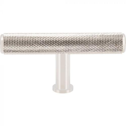Vesta Fine Hardware - Beliza Knurled T Knob 2 3/4 Inch Polished Nickel Polished Nickel