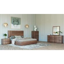 Nova Domus Asus - Italian Modern Walnut Bedroom Set