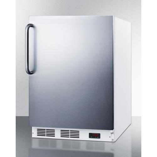 ADA Compliant Commercial All-freezer Capable of -25 C Operation, With Wrapped Stainless Steel Door and Towel Bar Handle