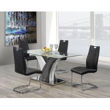 See Details - 5-piece Dining Set - Black