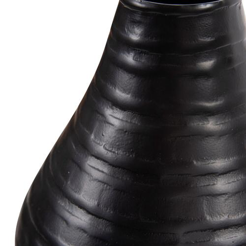 Howard Elliott - Chiseled Black Bell Vase, Small