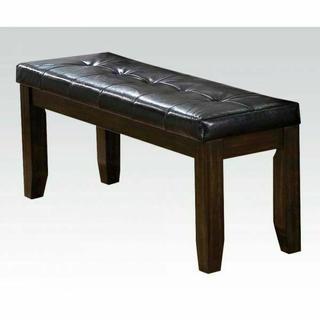 ACME Urbana Bench - 74625 - Black PU & Espresso