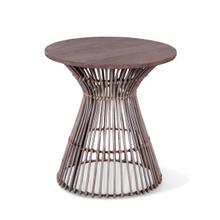 "Kubu 19"" Round Side Table Natural Gray"