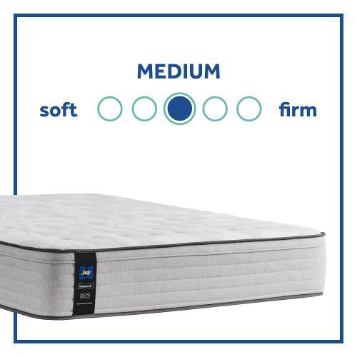 Sealy - Diggens - Faux Euro Top - Medium - Twin XL