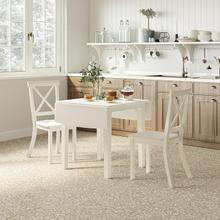 See Details - Eastern Tides Dropleaf Dining Table W/(2) X Back Chairs
