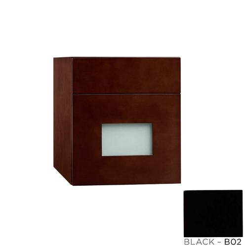 """Ronbow - Rebecca 12"""" Wall Mount Drawer Bridge with Glass Front in Black"""