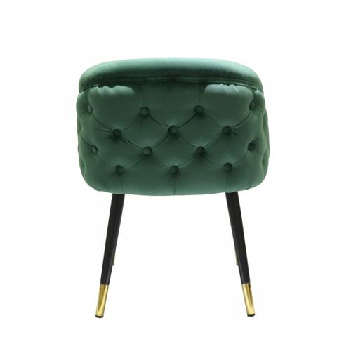 Gallery - Modrest Elliot - Contemporary Green & Black/Gold Dining Chair (Set of 2)