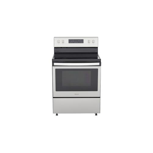 5.3 cu. ft. Freestanding Electric Range with Frozen Bake Technology Black-on-Stainless
