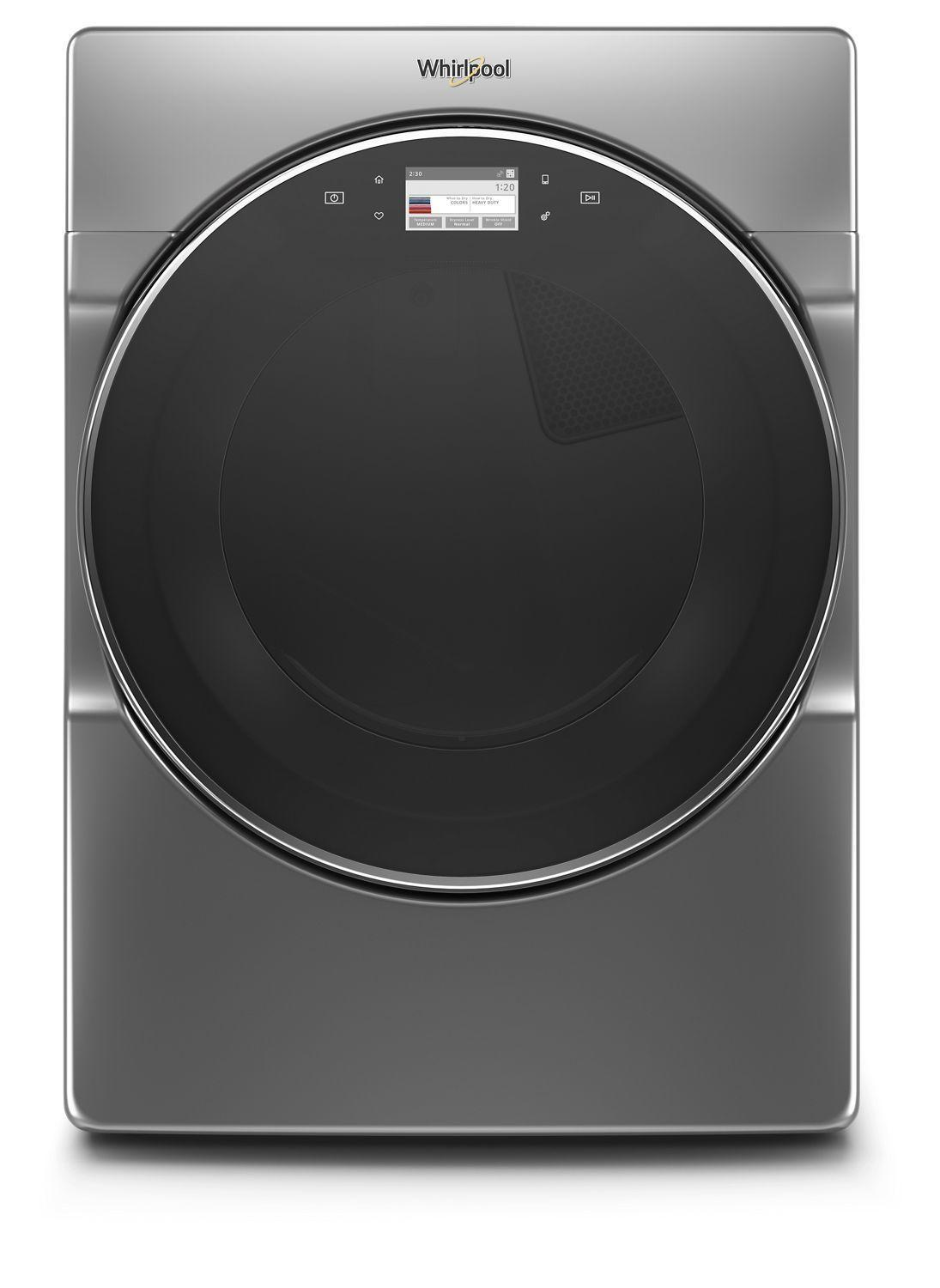 Whirlpool7.4 Cu. Ft. Smart Front Load Gas Dryer Chrome Shadow
