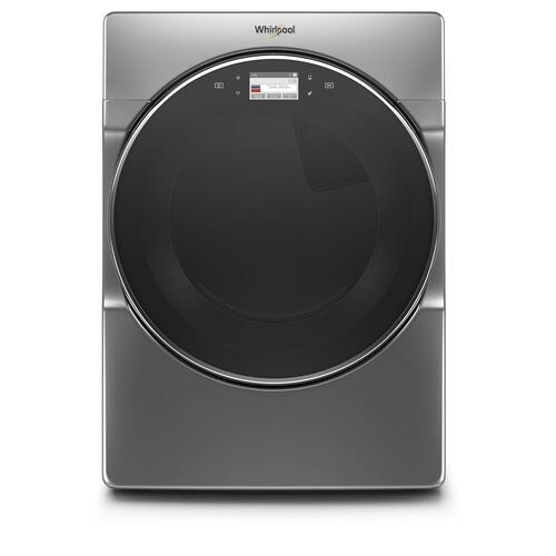 Gallery - 7.4 cu. ft. Smart Front Load Gas Dryer Chrome Shadow