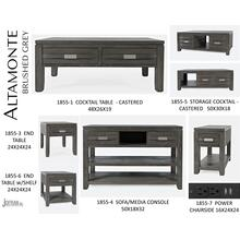 Altamonte Cocktail Table - Brushed Grey