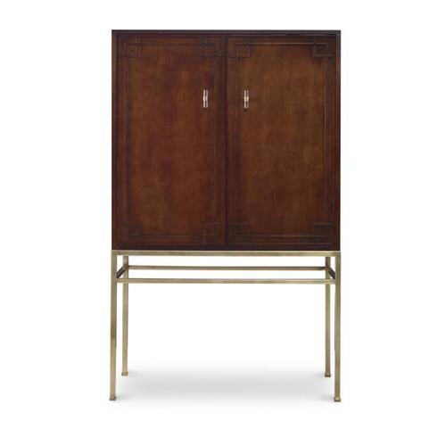 See Details - Bar Cabinet With Wood Back Panel