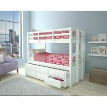 ACME Micah Twin/Twin Bunk Bed & Trundle - 39995 - White