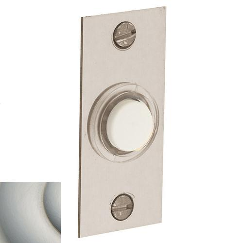 Satin Nickel with Lifetime Finish Rectangular Bell Button