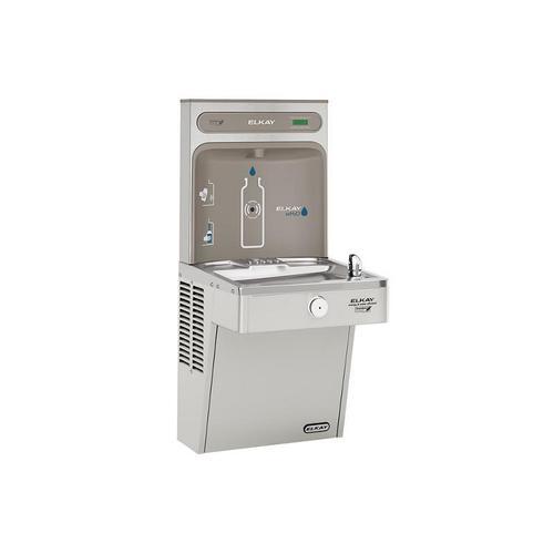 Elkay EZH2O Bottle Filling Station, & Single High Efficiency Vandal-Resistant Cooler, Non-Filtered 8 GPH Stainless