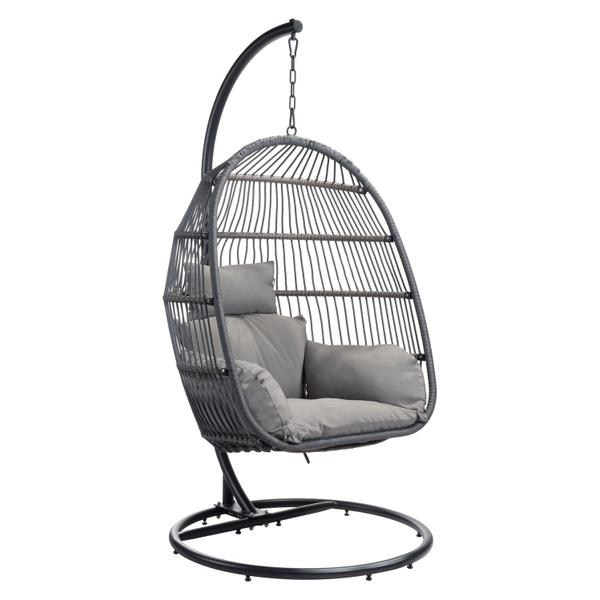 See Details - Bilbao Hanging Chair Gray
