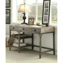 ACME Gorden Desk - 92325 - Weathered Oak & Antique Silver