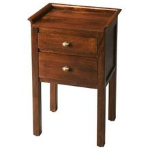 This immaculately proportioned side table makes a compelling case for less is more statement with engaging straight lines and compelling simplicity with a practical top rail being the sole embellishment. Crafted from mango wood solids, it boasts two drawers with distinctive brass-finished hardware provide convenient storage space.