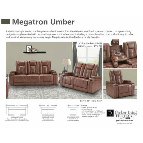 Parker House - MEGATRON - UMBER Power Reclining Collection