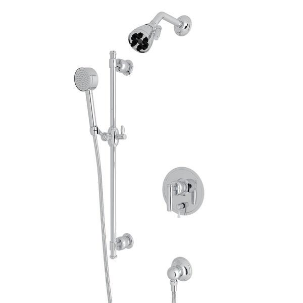 Polished Chrome Zephyr Pressure Balance Shower Package with Metal Lever Zephyr Series Only