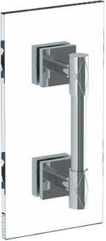 "Lily 24"" Shower Door Pull/ Glass Mount Towel Bar"