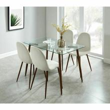 See Details - Abbot/Lyna 5pc Dining Set, Walnut/Beige