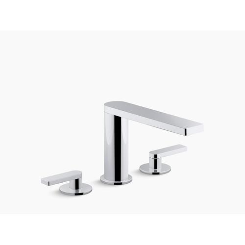 Polished Chrome Deck-mount Bath Faucet With Lever Handles