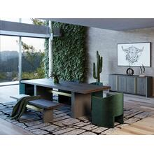 View Product - Modrest June - Modern Dark Grey & Walnut Dining Table